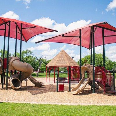 Playground Area in Cobb Park in Abilene, Texas