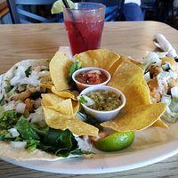 Fish Tacos - shrimp, crab and cod. One of each.