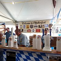 Another Beer Booth offering 2 of Munich's best beer - Hofbräu Original and Hofbräu Octoberfest.  7 tickets ($7) for a beer but well worth the money.