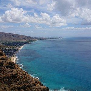 hawaii oahu Pu`uOHulu(Pink Pill box)よりコオリナを望む!