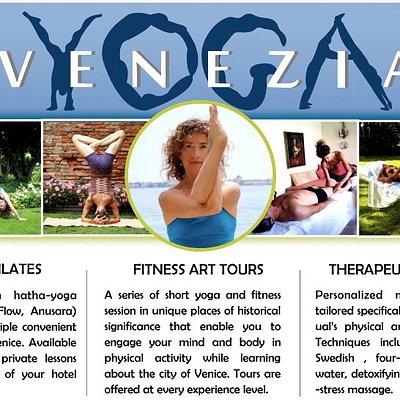 Yoga in small groups or private lessons - outdoor and artistic venues in Venice, massages at home.