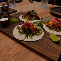 Mixed tacos with beef, pork and chicken