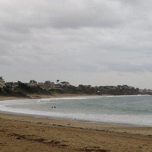 La plage du Pont vue par temps maussade le 25 septembre 2019
