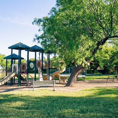 Playground Area in Lee Park in Abilene, Texas