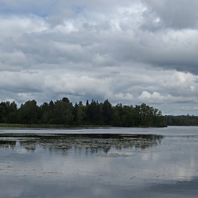 Haley Pond Park is on the shore of Haley Pond in the village center of Rangeley, Maine.
