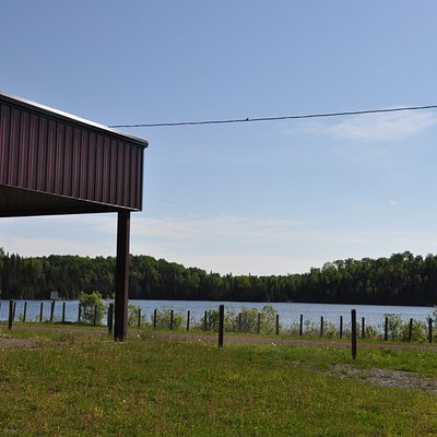 Charleson Recreation Area shelter with a lake view