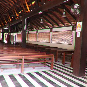 Lots of wooden benches