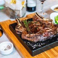 bulls head steak .. steak and co