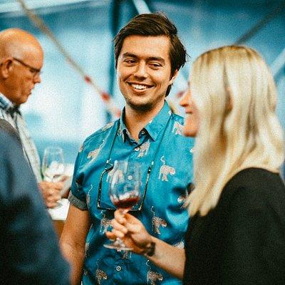 Happy people, happy wine