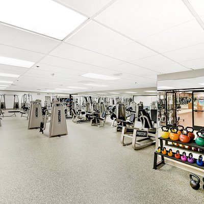 Over 25,000 sq. ft. of equipment including free-weights