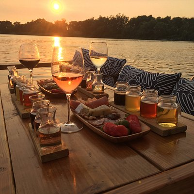 Local wine & beer tasting cruises matched with delicious cheese and charcuterie plates...