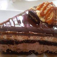 A big slice of banoffee cake