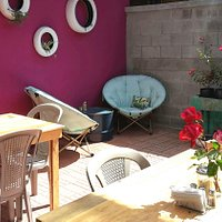 The cute and sunny patio