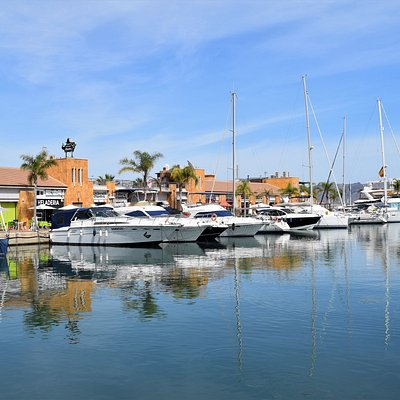 View of the port from the Plaza Comunidades Autonomas