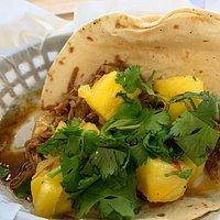 Pineapple pork taco