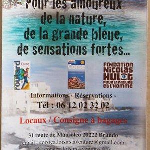 Le flyer de Corsica aventures
