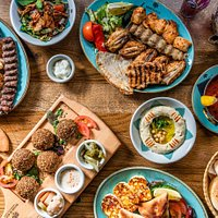 A delicious Lebanese spread