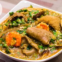 Our Okoro soup, well prepared to suit you.