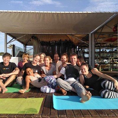 Sunrise yoga on the beach, daily