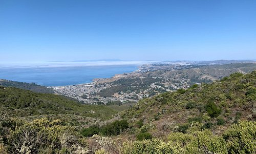 View over Pacifica from Montara Mountain.