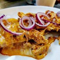Spicy chicken garlic ciabatta