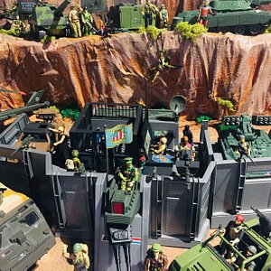 G.I. Joe Diorama located inside the Texas Toy Museum