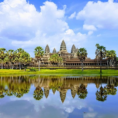 Angkor Wat temple during rainy season-Angkor-Special-Tours