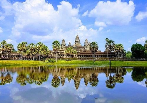 Angkor Wat temple during rainy season-Angkor-Special-Tours