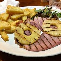 Gammon steak - very juicy