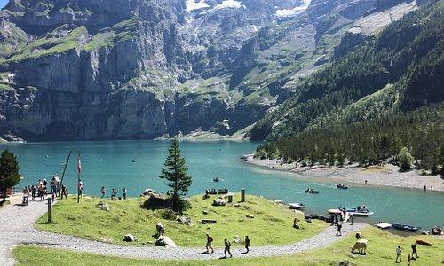 Il lago visto dal sentiero