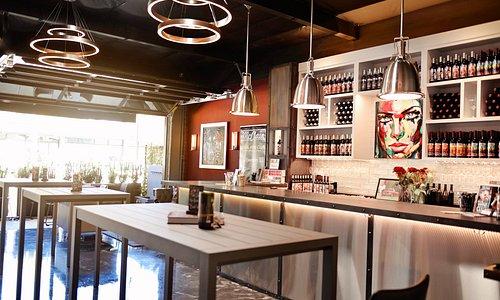 The wine tasting lounge.