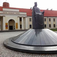 The monument and the National Museum of Lithuania