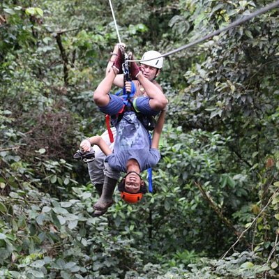 Zip-Line - do not do this at home.