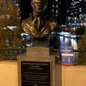 La statue de Monsieur DuSable de Haïti