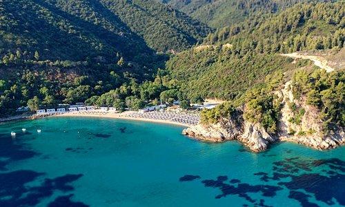 panoramic view akti oneirou luxury camping