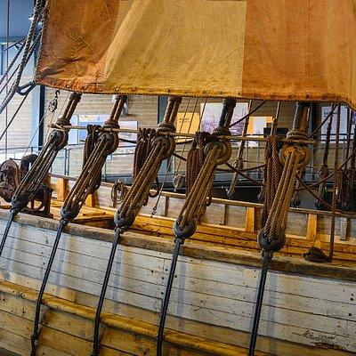 Jekt Anna Karoline, a authenic traditional cargo vessel Photo: Nordland Museum/Ernst Furuhatt