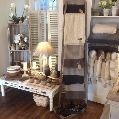 Cosy throws and cushions and lovely lighting