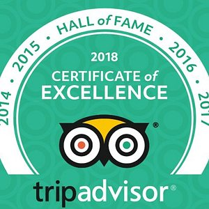 HALL OF FAME MEMBER!  Top of Trip Advisor for 5 years running!