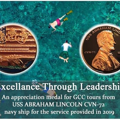 An Appreciation from US Navy for the Dolphin Watching and Snorkeling service for GCC Tours