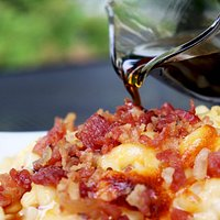 141 Main Street Agawam, MA Bacon Mac & cheese with local maple syrup