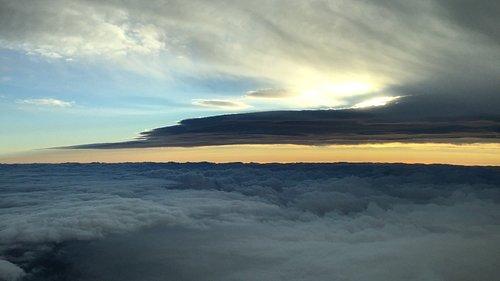 Lenticular cloud over the Tararua Ranges, New Zealand