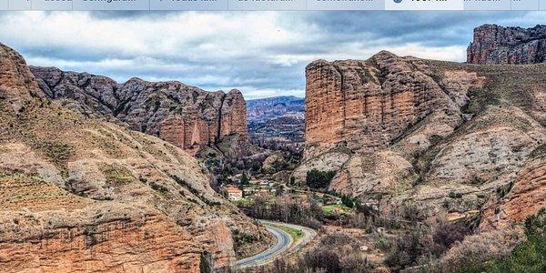 Vista Del Valle desde el Mirador de Viguera. Al fondo Logroño