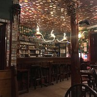 The public bar, (not pictured is fireplace to the right) very atmospheric and perfect setting to while away the time.