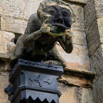 Decorative downspout carvings