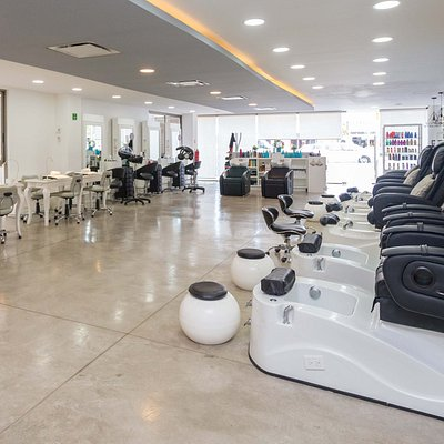 Pedi Spa Chairs, manicure/nails area, haircuts and color, everything in one place with the most profesional staff ready for you