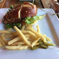 Chicken sandwich with delicate French Fries