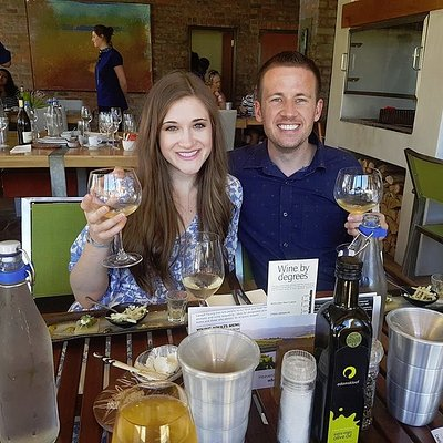 Sampling wine with Luhambo Tours