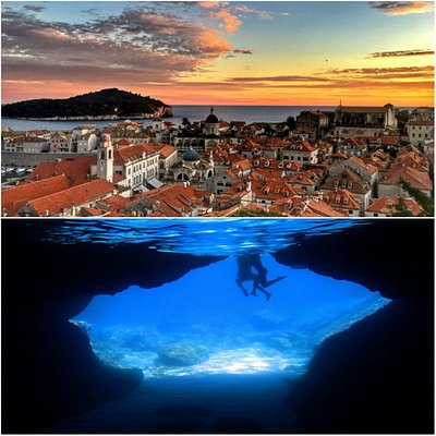 1. Old Town rooftops 2. Blue Cave