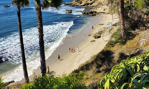 Rockpile Beach in Laguna Beach.  This was a stop where we were able to spend time exploring.