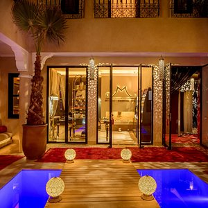 patio the night of Mythic Oriental Spa - Marrakech